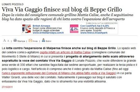 Varesenews del 27 ottobre 2011
