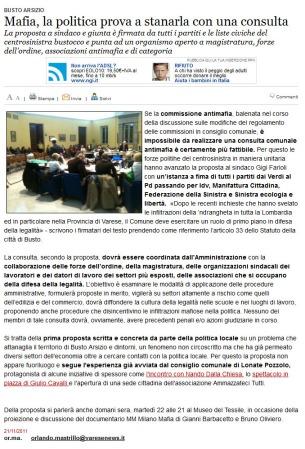 Varesenews del 21 novembre 2011
