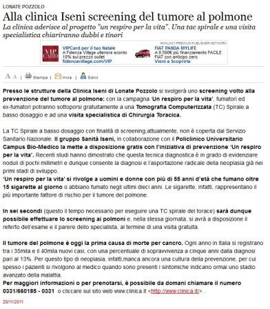 Varesenews del 28 novembre 2011