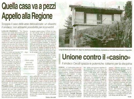 La Prealpina del 30 novembre 2011