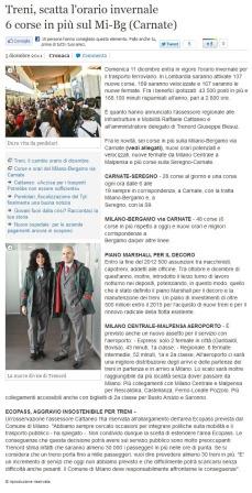 L'Eco di Bergamo del 5 dicembre 2011