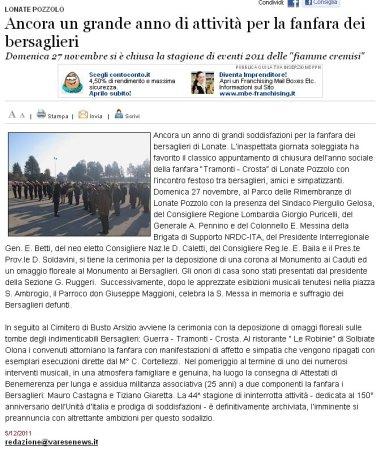 Varesenews del 5 dicembre 2011