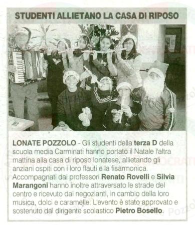 La Prealpina del 23 dicembre 2011