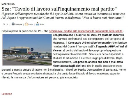 Varesenews del 13 febbraio 2012
