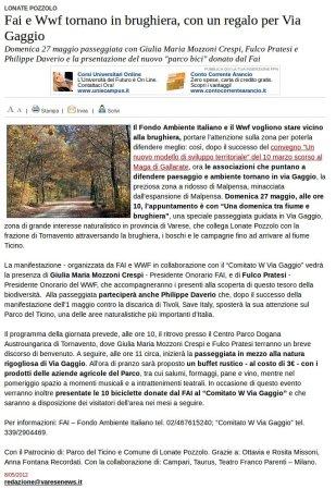 Varesenews del 8 maggio 2012