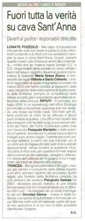 La Prealpina del 19 maggio 2012