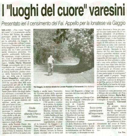 La Prealpina del 24 maggio 2012