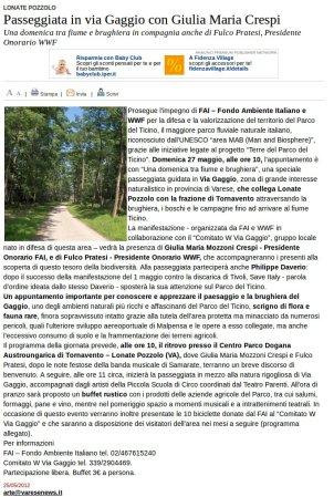 Varesenews del 25 maggio 2012