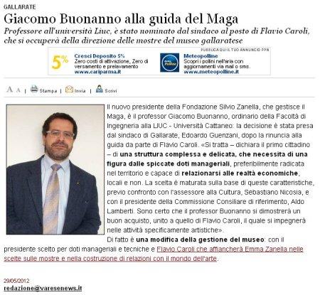 Varesenews del 29 maggio 2012