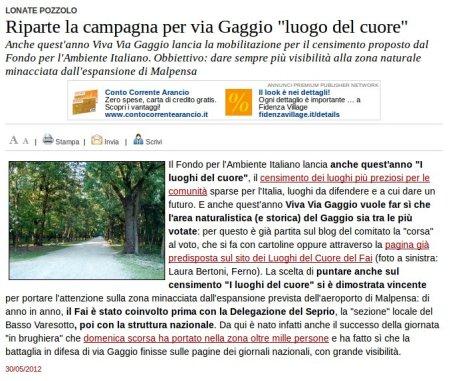 Varesenews del 30 maggio 2012
