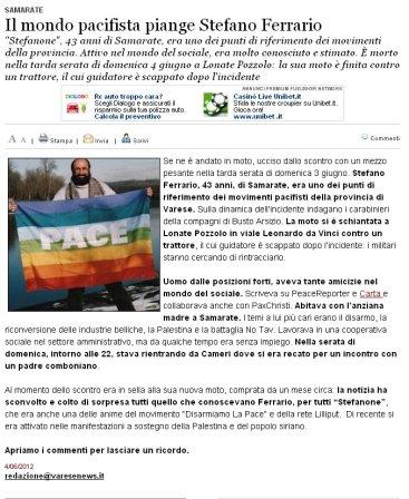 Varesenews del 4 giugno 2012