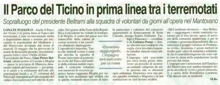 La Prealpina del 5 giugno 2012
