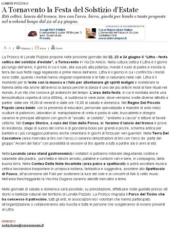 Varesenews del 20 giugno 2012