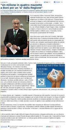 La Repubblica Milano del 8 luglio 2012