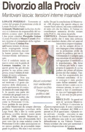 La Prealpina del 11 agosto 2012