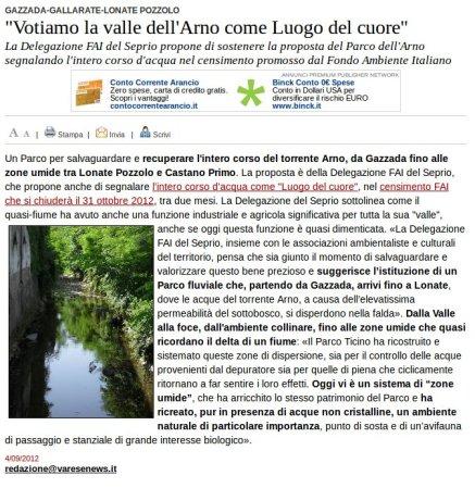 Varesenews del 4 settembre 2012
