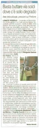 La Prealpina del 13 settembre 2012