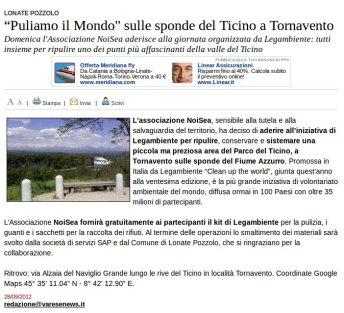Varesenews del 28 settembre 2012