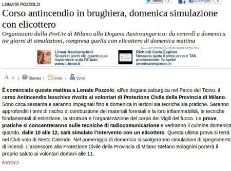 Varesenews del 5 ottobre 2012