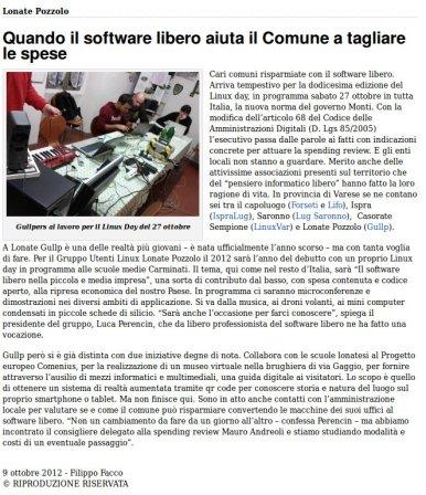VareseReport del 9 ottobre 2012
