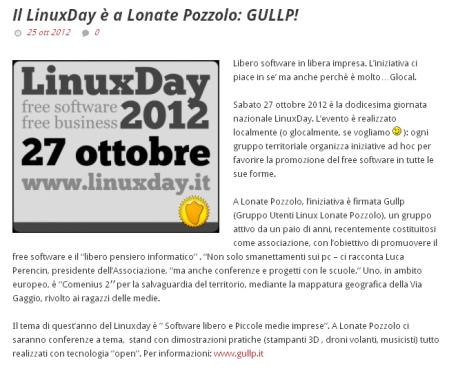 Glocal del 25 ottobre 2012