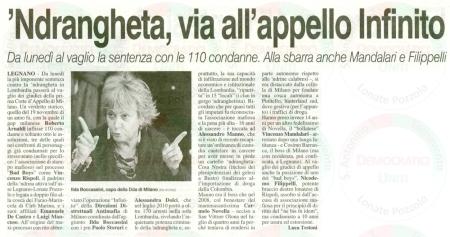 La Prealpina del 27 ottobre 2012