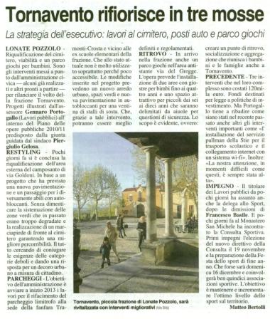 La Prealpina del 7 novembre 2012