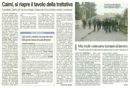 La Prealpina del 28 novembre 2012