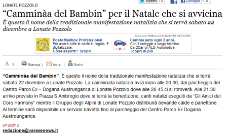 Varesenews del 6 dicembre 2012
