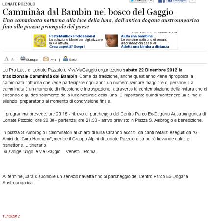 Varesenews del 13 dicembre 2012