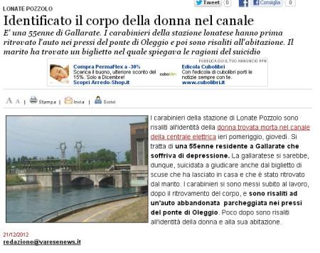 Varesenews del 21 dicembre 2012