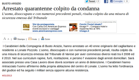 Varesenews del 4 gennaio 2013