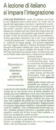 La Prealpina del 5 gennaio 2013