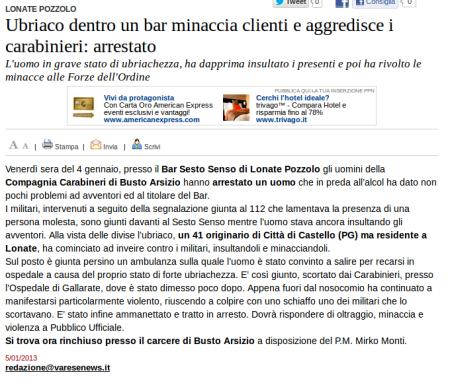 Varesenews del 5 gennaio 2013