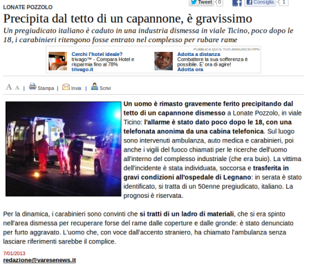 Varesenews del 7 gennaio 2013