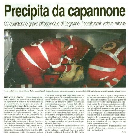 La Prealpina del 8 gennaio 2013