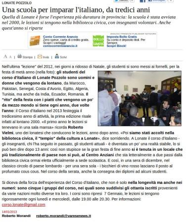 Varesenews del 14 gennaio 2013