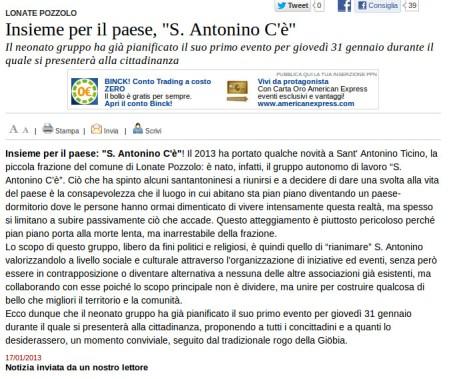Varesenews del 17 gennaio 2013