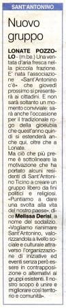 La Prealpina del 27 gennaio 2013