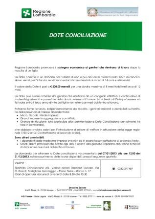 Dote conciliazione