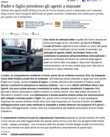 Varesenews del 21 febbraio 2013