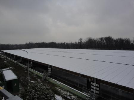 Impianto fotovoltaico sotto la neve