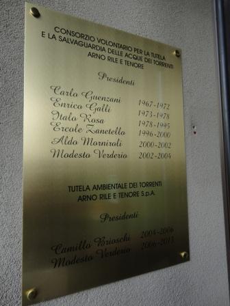 I presidenti del Consorzio e della Società