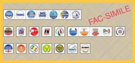 Facsimile scheda elettorale Senato (Lombardia)