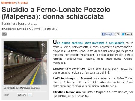 MilanoToday del 4 marzo 2013