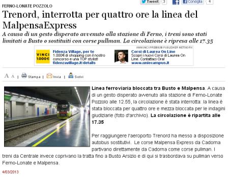 Varesenews del 4 marzo 2013