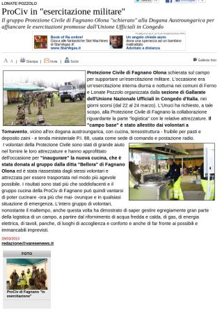 Varesenews del 28 marzo 2013