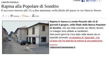 Varesenews del 6 giugno 2013