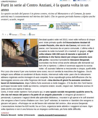 Varesenews del 11 giugno 2013
