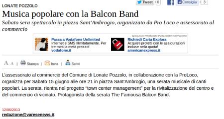 Varesenews del 12 giugno 2013
